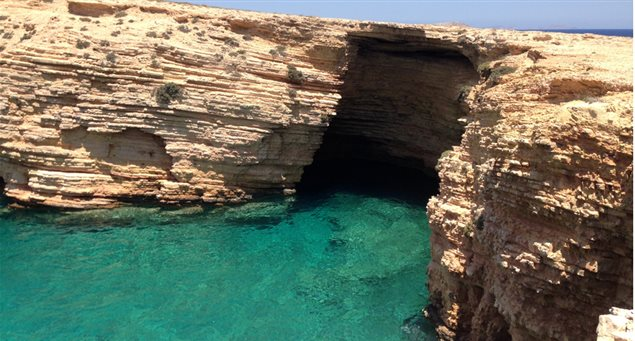 The caves at Xylobatis Cove